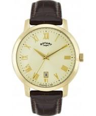 Rotary GS02462-03 Męskie zegarki Sloane brązowy skórzany pasek zegarka