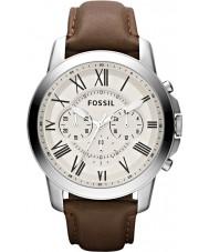 Fossil FS4735 Mężczyźni przyznają brązowy zegarek chronograf