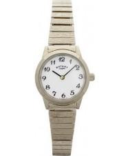 Rotary LB00762 zegarki damskie pozłacana bransoletka zegarek rozszerzalnej