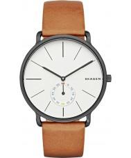 Skagen SKW6216 Mężczyźni Hagen tan skórzany pasek zegarka