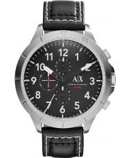 Armani Exchange AX1754 Męskie chronograf czarny skórzany pasek zegarka sportowego