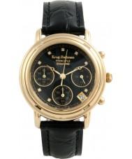 Krug-Baumen 150573DL Panie Zasada diament czarny zegarek chronograf