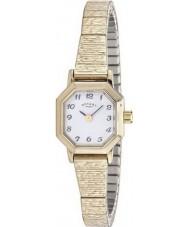 Rotary LB00764-29 zegarki damskie pozłacana bransoletka zegarek rozszerzalnej