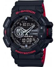 Casio GA-400HR-1AER Mężczyźni g-shock czas światowy czarny combi zegarek
