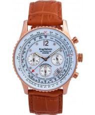 Krug-Baumen 400701DS Mężczyźni podróżnego powietrza tan skórzany pasek zegarka