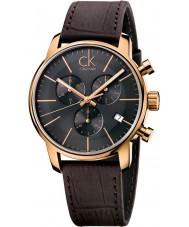 Calvin Klein K2G276G3 Mężczyźni miasta szary brązowy zegarek chronograf