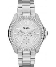 Fossil AM4481 Panie Cecile srebro stal zegarek chronograf