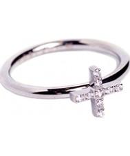 Edblad 79437 wiara Ladies sześciennych zircona stalowy pierścień - rozmiar p (m)