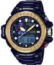 Casio GWN-1000F-2AER Mężczyźni g-shock gulfmaster niebieskiego czujnika potrójne zegarek zasilany energią słoneczną