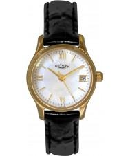 Rotary LS02368-41 zegarki damskie eko sukienka pozłacany zegarek