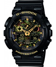 Casio GA-100CF-1A9ER Mężczyźni g-shock zegarek chronograf czarna