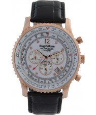 Krug-Baumen 600702DS Mężczyźni podróżnego powietrza diamond watch