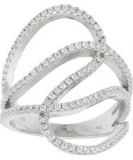 FROST by NOA 145006-54 Panie rod galwanicznie pierścionek z cyrkoniami - wielkość n