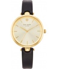 Kate Spade New York 1YRU0811 Panie holland czarny skórzany pasek do zegarka