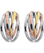 Calvin Klein KJ1RDE300100 Women ostry trzy-kolorowe kolczyki hoop mix