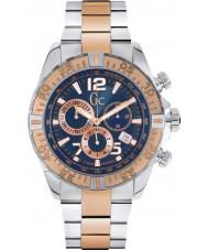 Gc Y02002G7 Mężczyźni sportracer wzrosła pozłacany zegarek chronograf