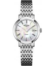 Rotary LB05300-07 Panie zegarki srebrny Windsor ton stali zegarek