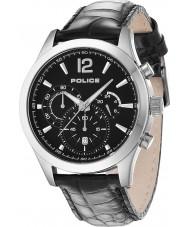Police 12757JS-02 Mężczyźni Ohio czarny skórzany pasek zegarka