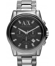 Armani Exchange AX2092 Mens czarny srebrny zegarek chronograf strój