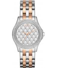 Armani Exchange AX5249 Panie srebrne i złocone róża bransoletka strój zegarek