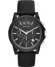 Armani Exchange AX1326 Sport czarny silikonowy zegarek chronograf