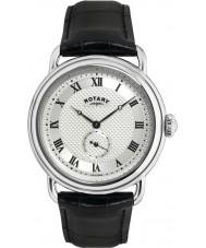 Rotary GS02424-21 Męskie zegarki Sherlock Holmes srebrny czarny zegarek