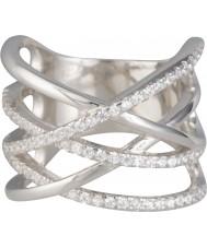 FROST by NOA 145023-52 Ladies srebrny pierścionek z cyrkoniami - rozmiar L