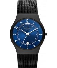 Skagen T233XLTMN Mężczyźni aktiv niebieskim i czarnym tytanu zegarek