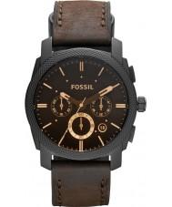 Fossil FS4656 Maszyna Męskie brązowe skórzane Chronograph zegarek