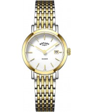 Rotary LB05301-01 zegarki damskie Windsor two tone pozłacany zegarek