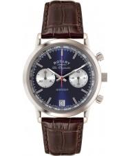 Rotary GS90130-05 Mężczyźni les originales sport mścicielem niebieski brązowy zegarek chronograf