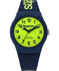 Superdry SYG164UN Miejskie granatowy pasek silikonowy zegarek
