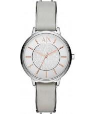 Armani Exchange AX5311 Panie szary skórzany pasek sukni zegarek