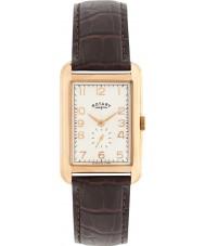 Rotary GS02699-01 zegarki męskie Portland różowe złoto brązowy skórzany pasek zegarka