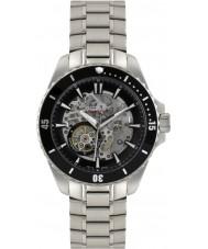 Rotary AGB90078-A-04 Mężczyźni AQUASPEED srebrny szkielet stalowy zegarek automatyczny
