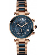 Gc Y05009M7 Lady chic wzrosła pozłacany zegarek chronograf