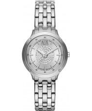 Armani Exchange AX5415 Kamień Ladies ustawić srebrna bransoletka sukienka zegarek