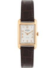Rotary LS02699-01 zegarki damskie Portland rocznika wygląda brązowy skórzany pasek zegarka