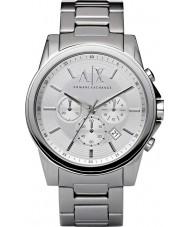 Armani Exchange AX2058 Mężczyzna srebra stalowy zegarek chronograf strój