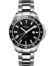 Rotary GB05017-04 Męskie zegarki srebrne Havana ton stali zegarek