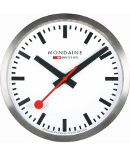 Mondaine A990-CLOCK-16SBB Srebrne metalowe zegar ścienny