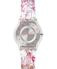 Swatch SFE102 Skóra Panie - Jardin Fleuri zegarek