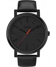 Timex T2N794 Mens czarny klasyczny okrągły zegarek