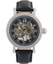 Krug-Baumen 60111DM Mężczyźni Prestige czarny skórzany pasek do zegarka