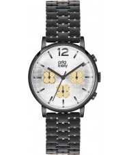 Orla Kiely OK4002 Panie Frankie chronograf czarny zegarek ip