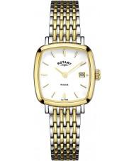 Rotary LB05306-01 zegarki damskie Windsor two tone pozłacany zegarek