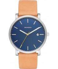 Skagen SKW6279 Mężczyźni Hagen jasnobrązowy skórzany pasek zegarka