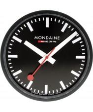 Mondaine A990-CLOCK-64SBB Black metal zegar ścienny