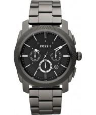 Fossil FS4662 Maszyna Mężczyźni stal czarna bransoletka zegarek chronograf