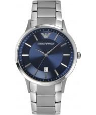 Emporio Armani AR2477 Męskie klasyczne niebieski srebrny zegarek